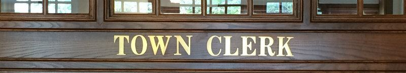 Town Clerk Sign